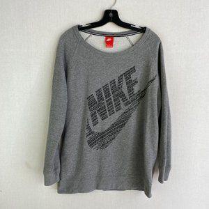 NIKE Gray Relaxed Crewneck Sweatshirt